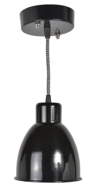 Loftlampe i sort - Ø.16cm