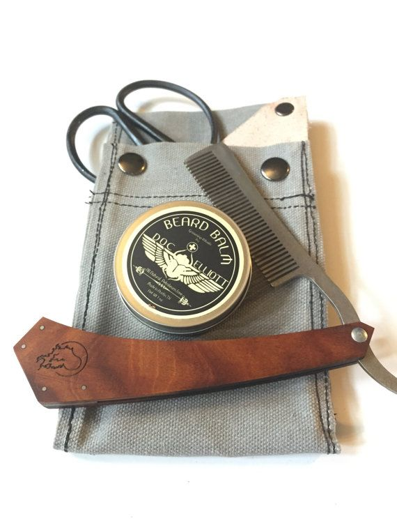 bloodless beard grooming kit stone grey by fourChamberForge