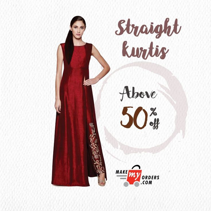 If straight is your style, you have it here: (https://goo.gl/72LF35) Grace any event with our classy Straight Cut Kurtis!  #makemyorders
