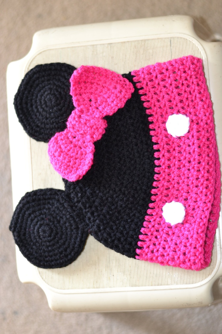 Minnie Mouse Character Hat Size Adult/Teen. $20.00, via Etsy.