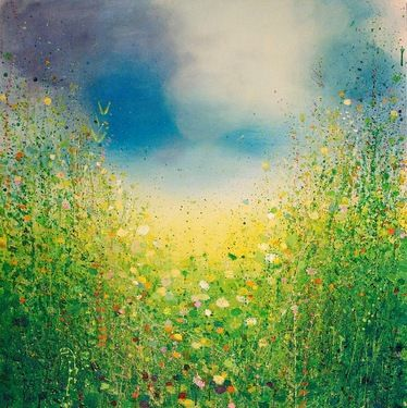 "Saatchi Art Artist Sandy Dooley; Painting, ""Yellow and Green Landscape"" #art"
