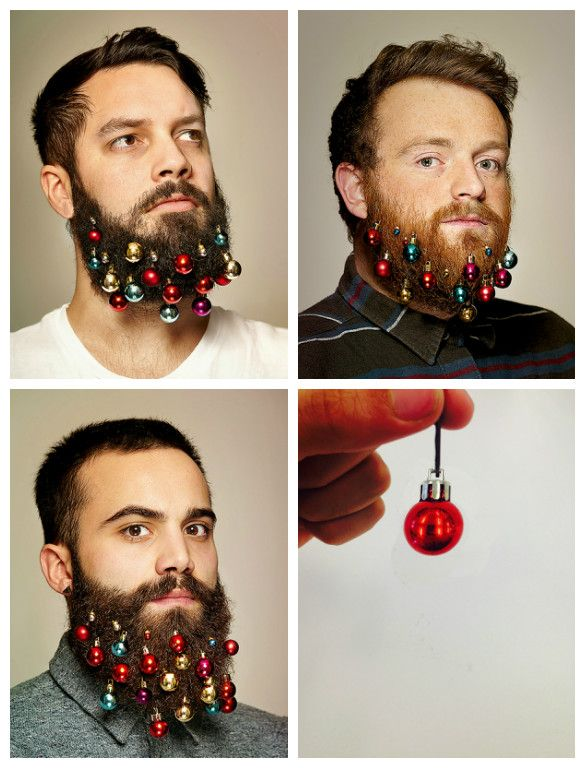 We found the perfect gift for your bearded man, the beard baubles, no more Christmas tree needed this year