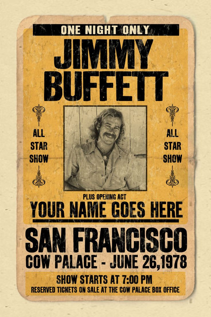 228 best soundtrack to my soul jimmy buffett images on pinterest your name on a jimmy buffett concert poster 12x18 digital heavy poster hexwebz Choice Image