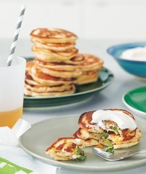 Savory Dinner Pancakes recipe