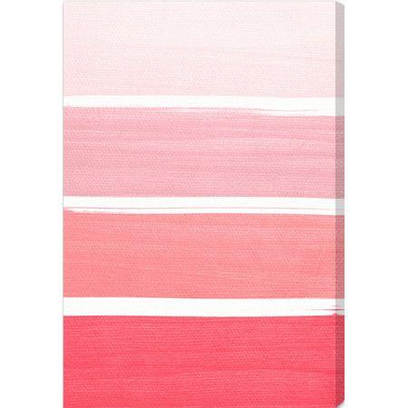 Diese Wandkunst aus dem Hause Oliver Gal besticht durch ihren Ombre-Look in verschiedenen Pinktönen und setzt einen trendigen Akzent in Ihrem Interieur. Die...