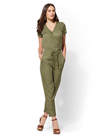862bf527235 Shop Olive Wrap Jumpsuit. Find your perfect size online at the best price  at New York   Company.