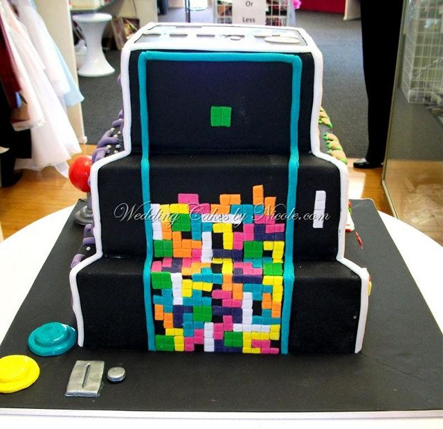 Best Cool Cakes Images On Pinterest Video Game Cakes Video - Tetris birthday cake