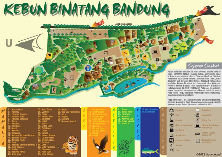 Redesign Map of Bandung Zoo by doondoond.deviantart.com on @deviantART