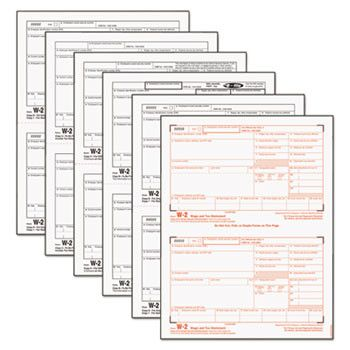W-2 Tax Form, Six-Part Carbonless, 50 Forms