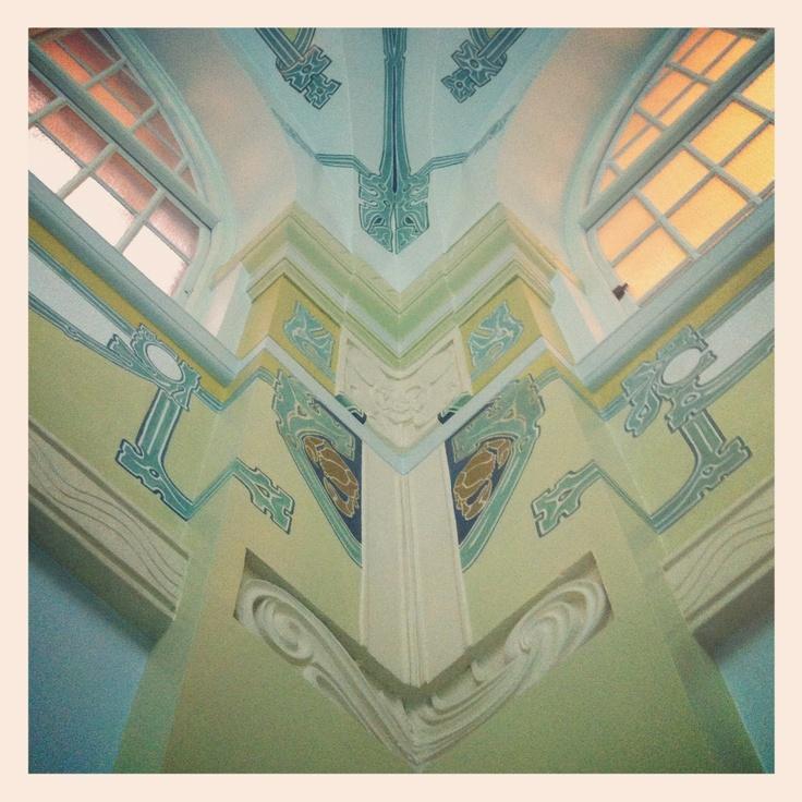 Beautiful ceiling. City Spa Hagabadet in Gothenburg