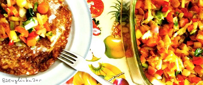 Autumn Salad #food #salad #vegetables #fried #dinner #veggies