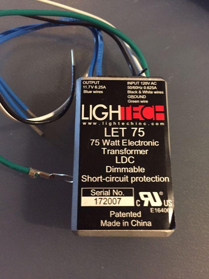 Lightech let75 12v ac class 2 electronic remote