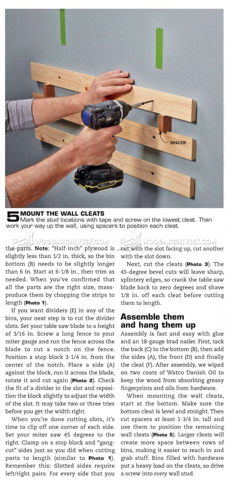 #2296 DIY Hardware Organizer - Workshop Solutions