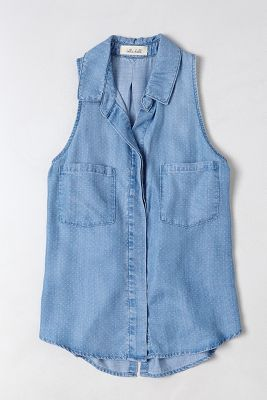 sleeveless chambray for summertime!