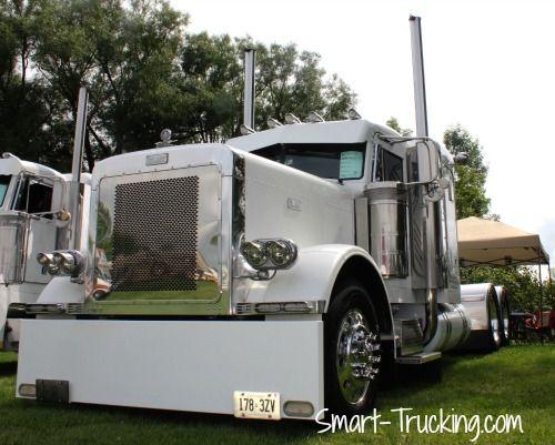 Swishy white Custom Pete, Clifford Truck Show, Clifford, ON, 2012.
