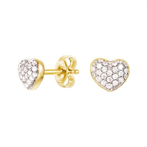 Esprit Silber Ohrringe Petite Heart Gold  #earrings #silver #jewelry #esprit