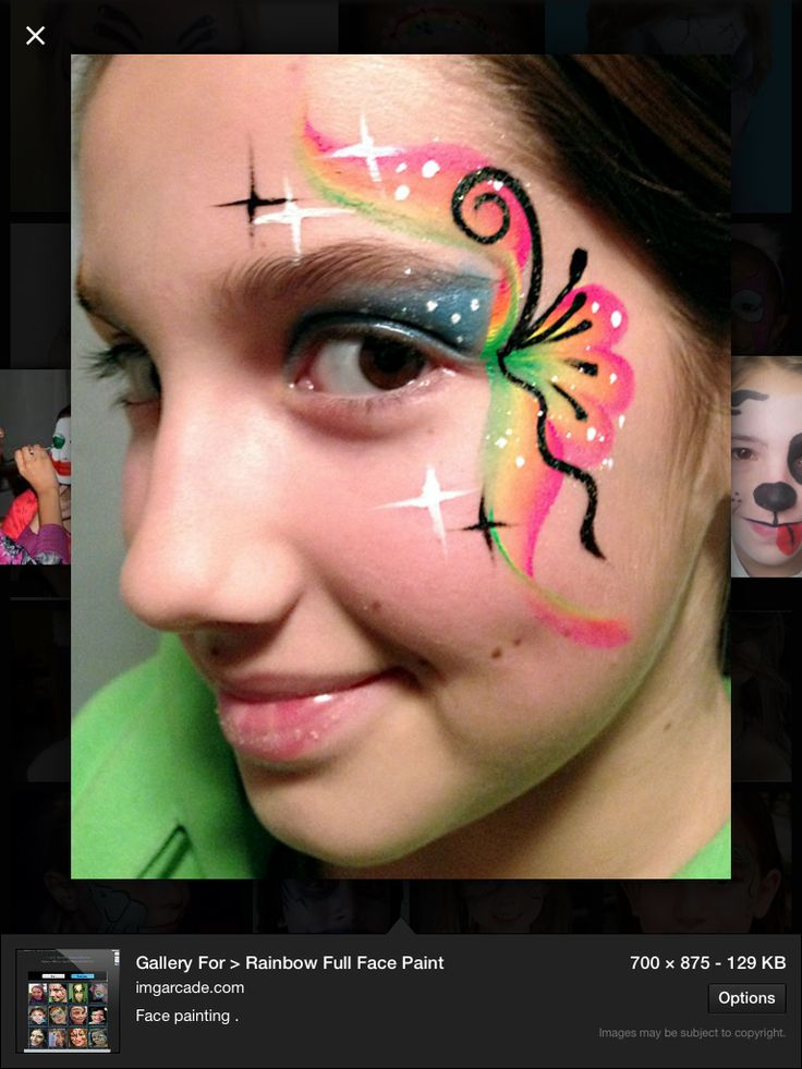 46 best Face Paint Rainbow Designs images on Pinterest Face