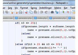 Online name generator