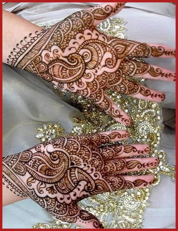 Full Indian Hand Bridal Mehndi Designs