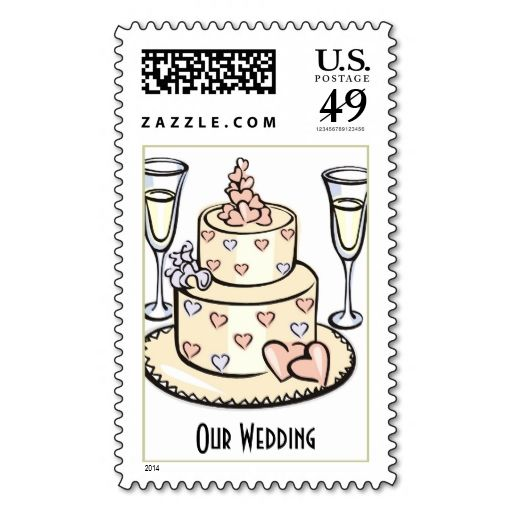 Wedding Cake And Champagne Flutes Stamps Wanna Make Each Letter A