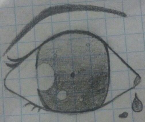 Toda nuestra amistad se quedó en el olvido; como esto, siempre será un boceto, una idea...  Boceto de un ojo.