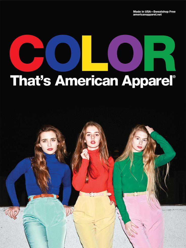 Color, that's American Apparel.  #AmericanApparel #colors