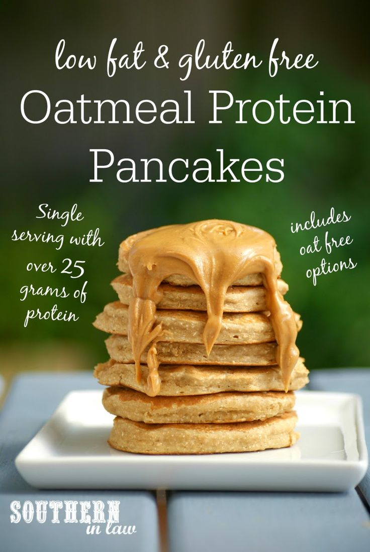 This Oatmeal Protein Pancakes Recipe has over 25 grams of protein and is the perfect base recipe to make your own. Low fat, gluten free, high protein, healthy, refined sugar free, clean eating friendly and the recipe includes oat-free options as well.