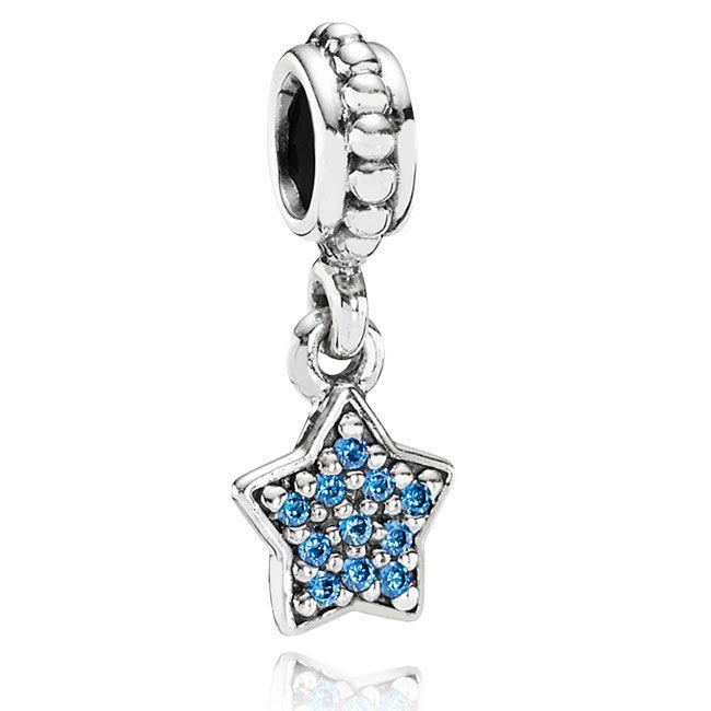 Pandora Blue Pavé Star Dangle