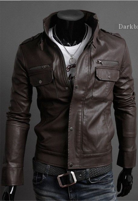 206 best Men's Leather Jackets images on Pinterest | Menswear ...