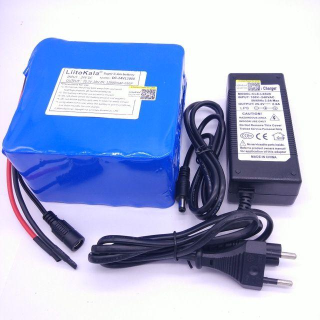 >> Click to Buy << HK 6S6P LiitoKala 24 v 12ah bateria DE litio DE 25.2 v 12ah bateria li-ion para la bateria DE la bicicleta 350 w e moto 250 w mo #Affiliate