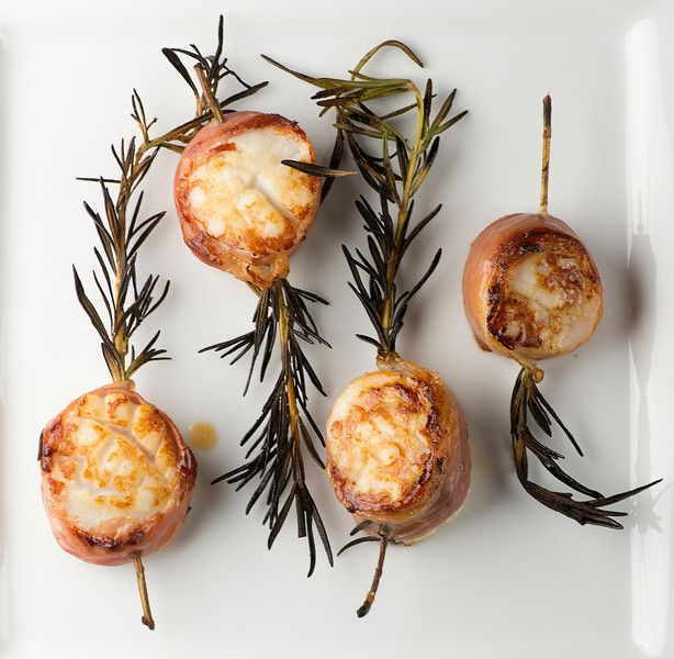 Grilled Rosemary Scallops - using rosemary stalks as skewers is my New Favorite Thing!