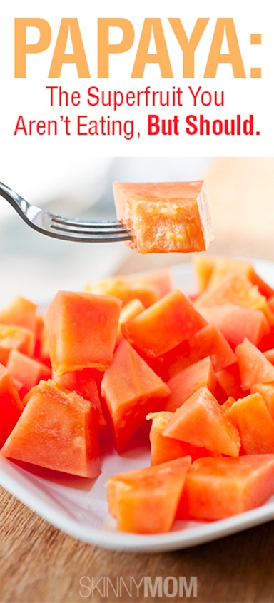 Papaya, If you have never tried this superfruit you are missing out on tons of flavor and healthy nutrients!!!!