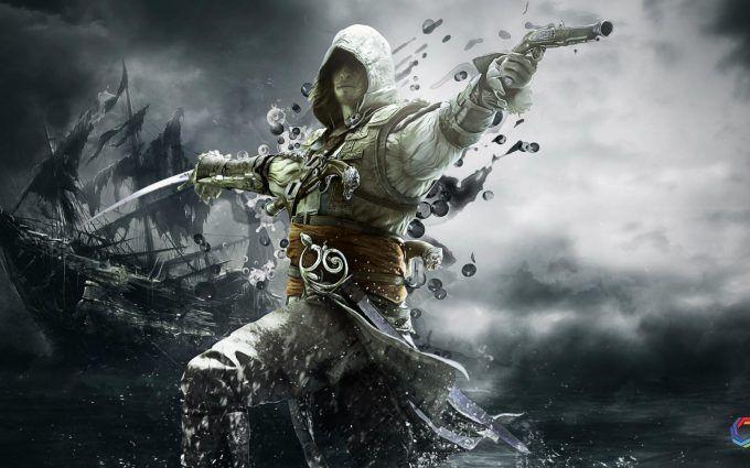 Pirates Gaming Wallpaper 3d Full Download Assassins Creed Black