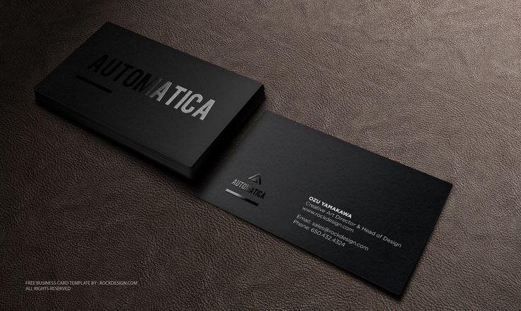Cartões de visita pretos - Assuntos Criativos