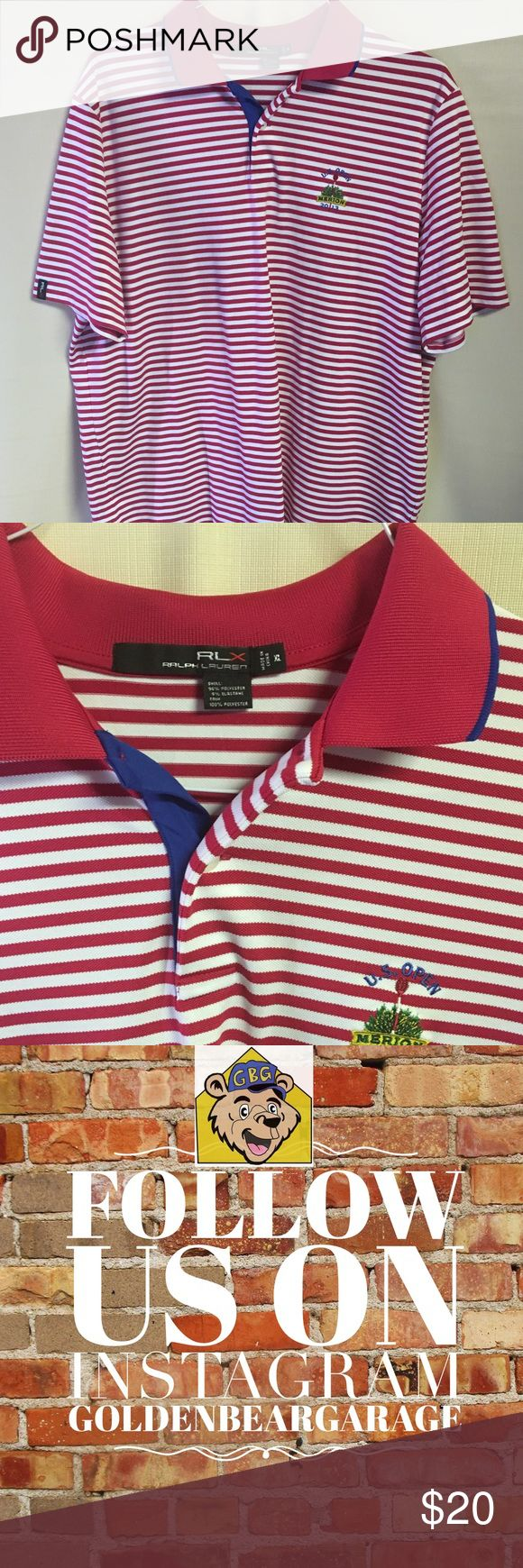Ralph Lauren 2013 US Open Merion Striped PoloShirt Gently Worn Ralph Lauren Men's XL Pinstriped 2013 US Open Merion Golf Polo Shirt. Shirt is in great condition with no flaws. Classic throwback for golfer. Polo by Ralph Lauren Shirts Polos