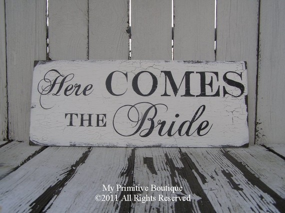 Here Comes The Bride from Etsy