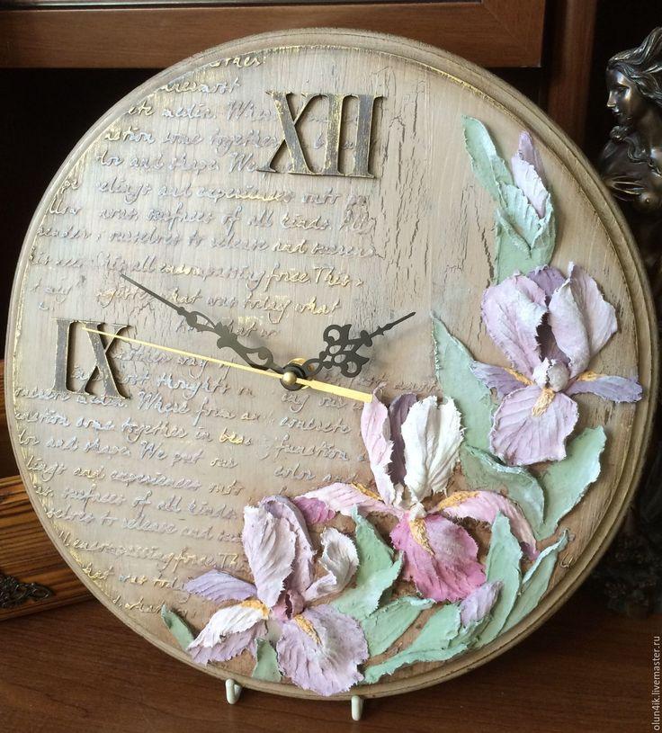 """Купить Часы """"Прованс"""" - комбинированный, часы, часы настенные, часы интерьерные, для дома и интерьера, интерьер"""
