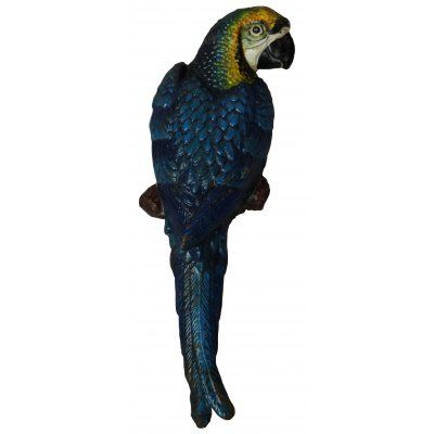 Parrot wall-mount, lovely hand painted and made from cast iron