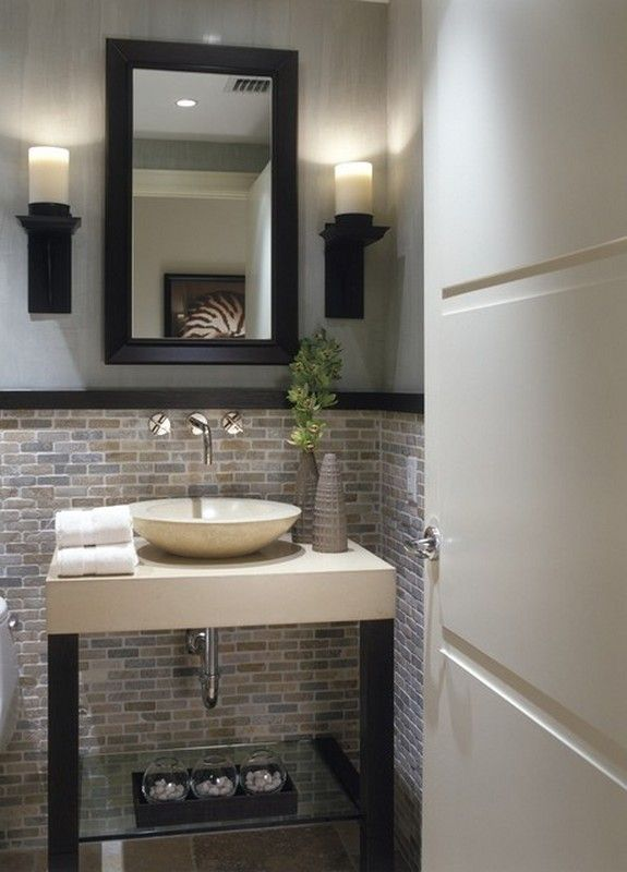 1000 ideas about small half bathrooms on pinterest half bathroom remodel half bath remodel - Small half bathroom tile ideas ...