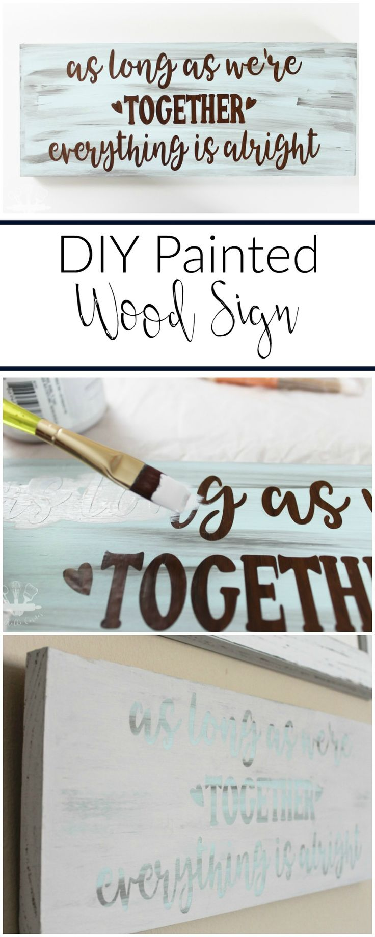 Easy to follow tutorial to make your own DIY painted wood sign