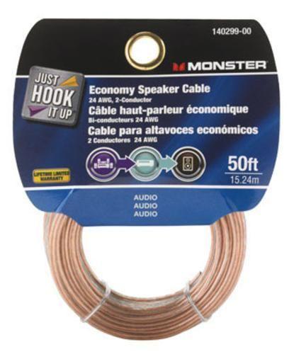 Monster 140299-00 Economy Grade Speaker Wire, 50'