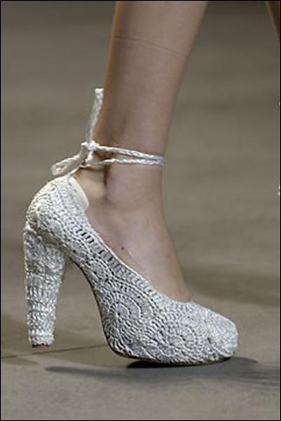 Crocheted high heels!