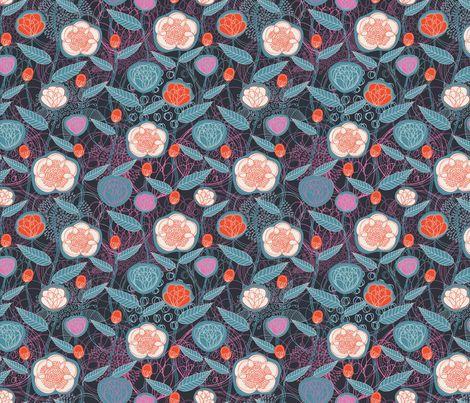 Magic Flowers Summer fabric by serena_bellini on Spoonflower - custom fabric