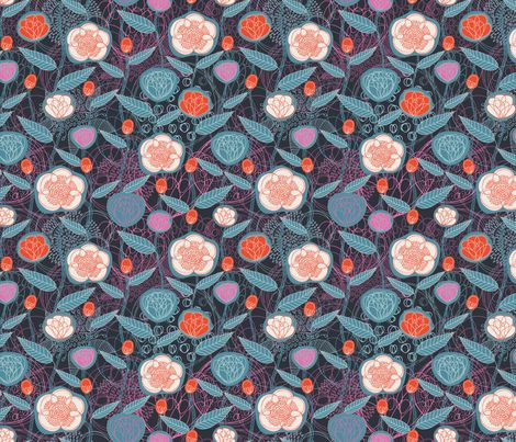Magic Flowers Summer fabric by serena_bellini on Spoonflower - custom fabric