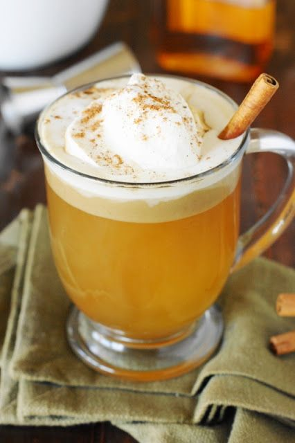 Eggnog is the go-to heated holiday drink, but your options don't have to stop there. Rum is mixed with brown sugar, melted butter, and spices for a warm, buttery concoction that's simply delicious. Get the recipe at The Kitchen is My Playground.