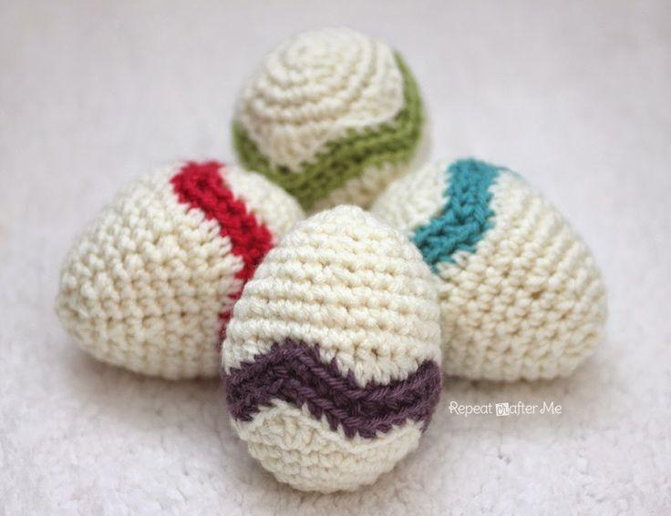 Crochet Chevron Striped Easter Egg Free Amigurumi Pattern http://www.repeatcrafterme.com/2014/04/crochet-chevron-striped-easter-egg.html