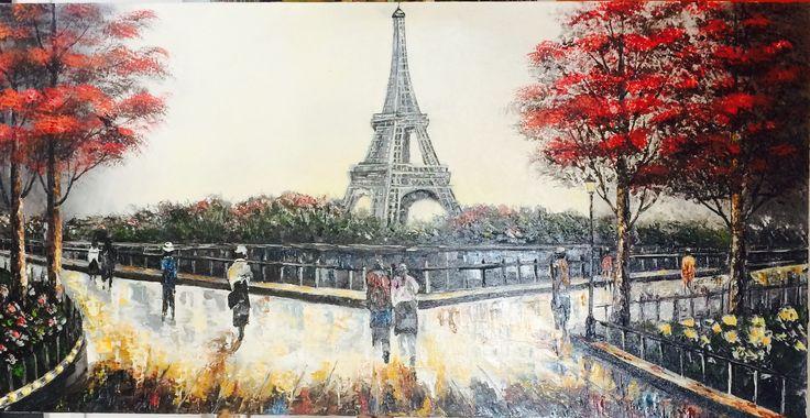 Cuadro al oleo#parisino#espatula#50/70#por M.Calderon