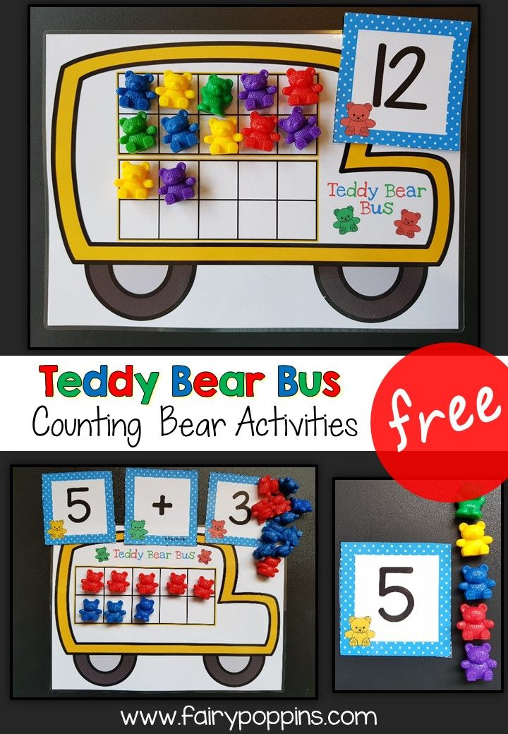 Free Counting Bear Activities – Fairy Poppins – Fairy Poppins