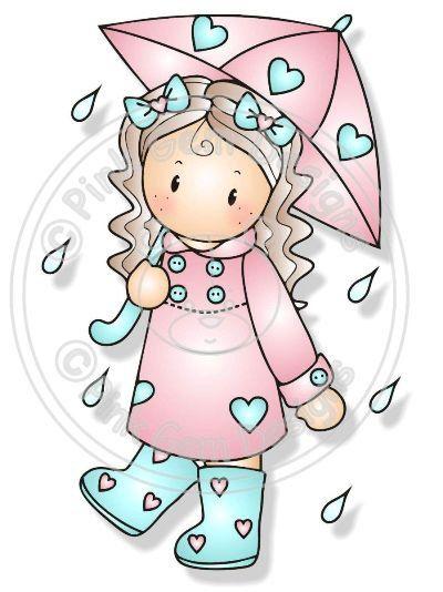 Digital (Digi) Chloe in the Rain Stamp
