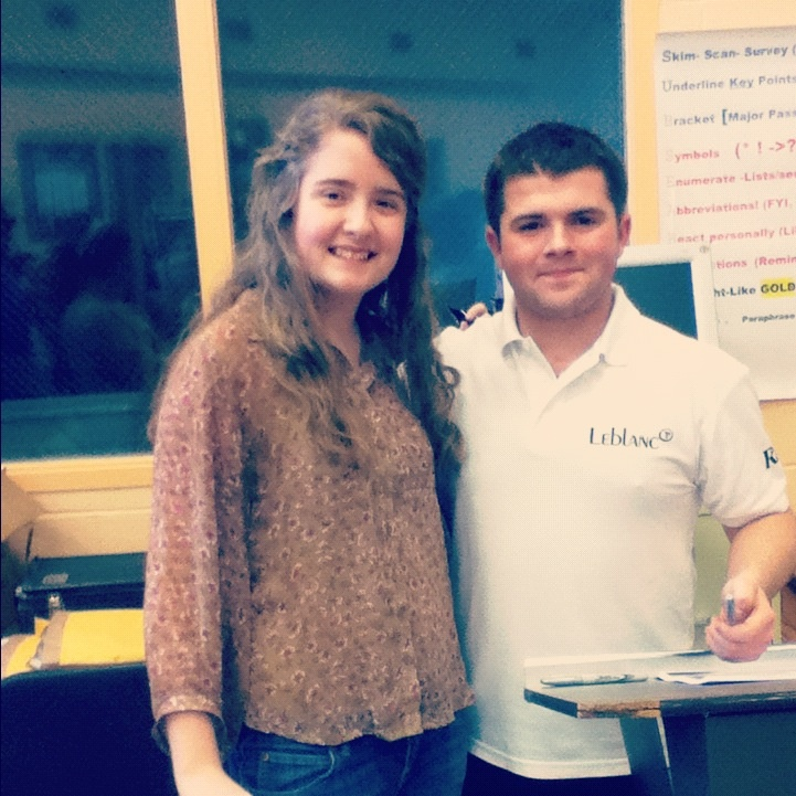 This is me and the world famous clarinet player, Julian Bliss.